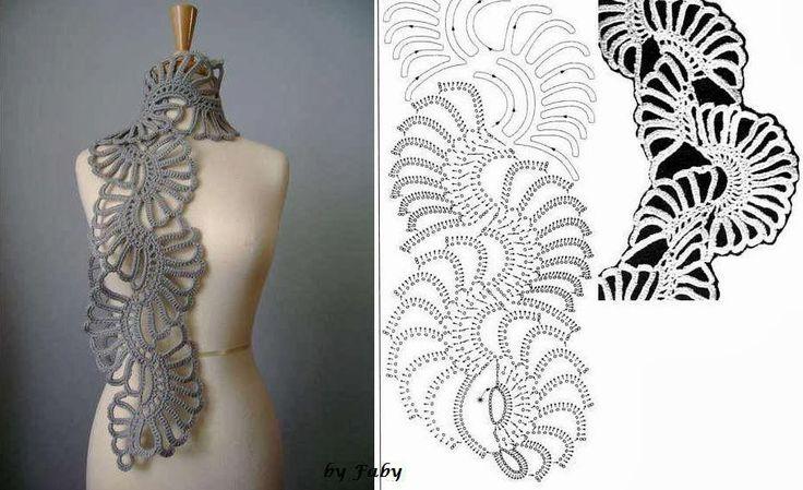 Patron+Crochet+Bufanda+en+una+imagen8.jpg (918×561)