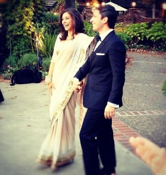 Lisa Ray Wore An Elegant White Gown By Goa Based Designer Wendell Rodricks For Her Wedding