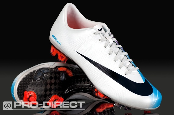 Nike Football Boots - Mercurial Vapor Superfly II FG - FIrm Ground - Soccer Cleats - Windchill/Dark Obsidian/Chrlorine Blue