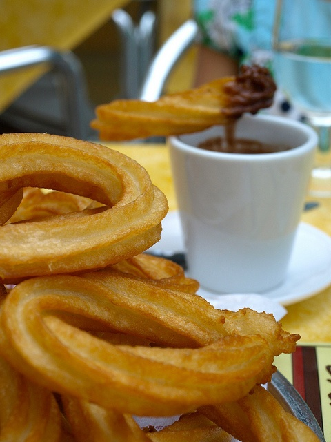 Churros con chocolate in Valencia.