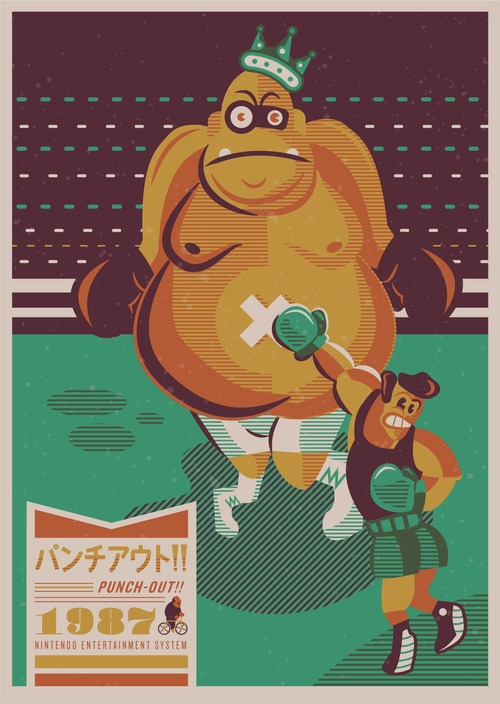 Limited edition Punch-Out poster, coinciding with http://pixelperfectbooks.com/