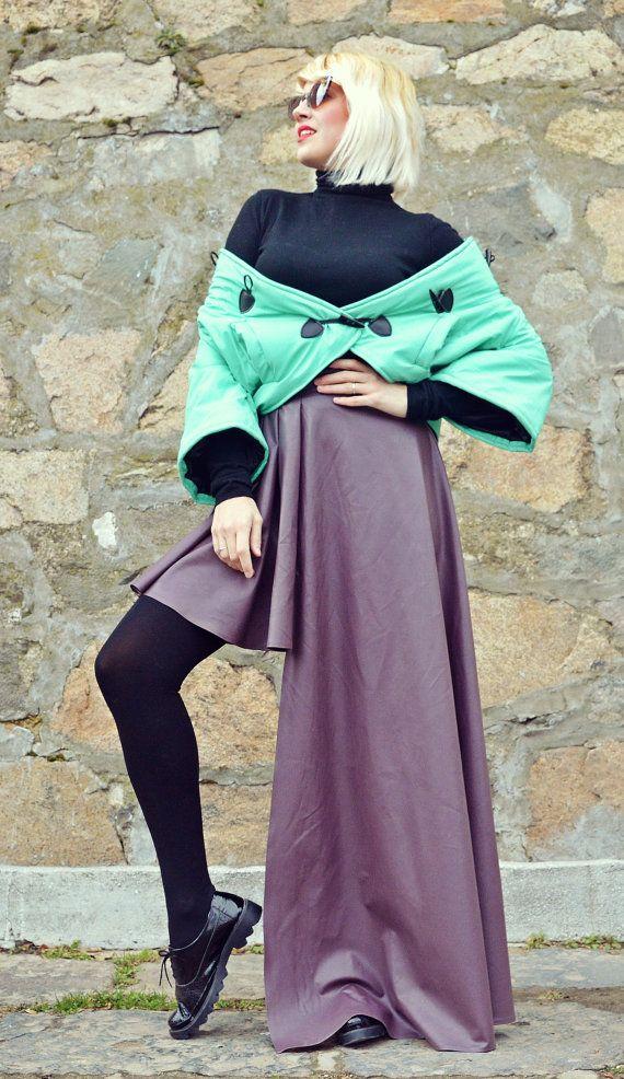 Purple Leather Skirt / Extravagant Leather Skirt / Purple https://www.etsy.com/listing/487692790/purple-leather-skirt-extravagant-leather?utm_campaign=crowdfire&utm_content=crowdfire&utm_medium=social&utm_source=pinterest