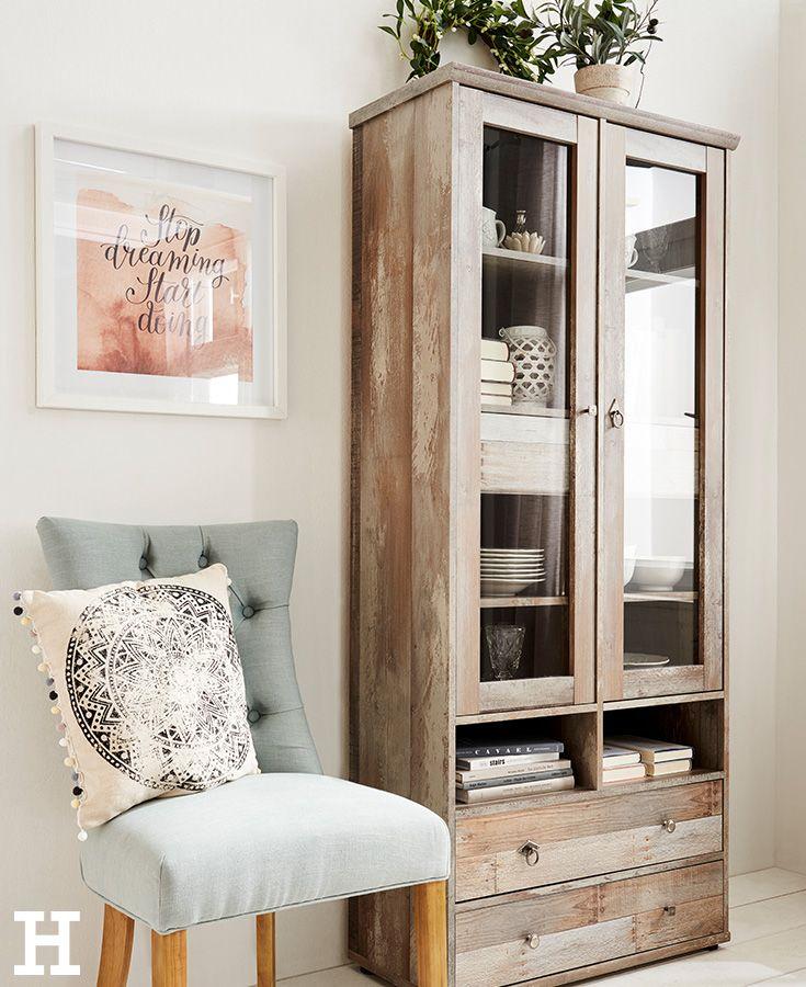 awesome einfache dekoration und mobel romantische accessoires im landhausstil #2: Eine Vitrine im Landhaus-Schick. #möbel #einrichten #landhaus #idee #