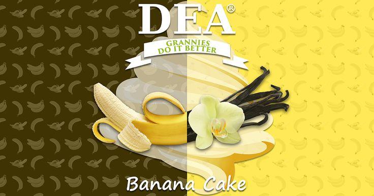 Aroma Banana Cake di Granny Rita: milkshake alla banna con biscotto e vaniglia #aromiDEA