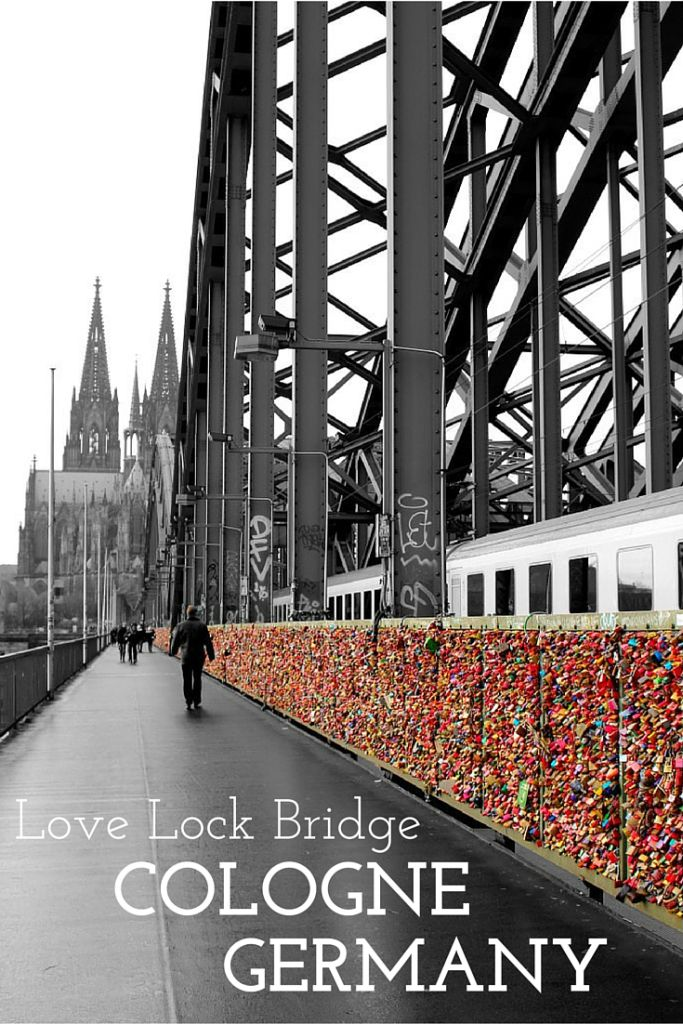 The Love Lock Bridge in Cologne, Germany should be on your must do list!