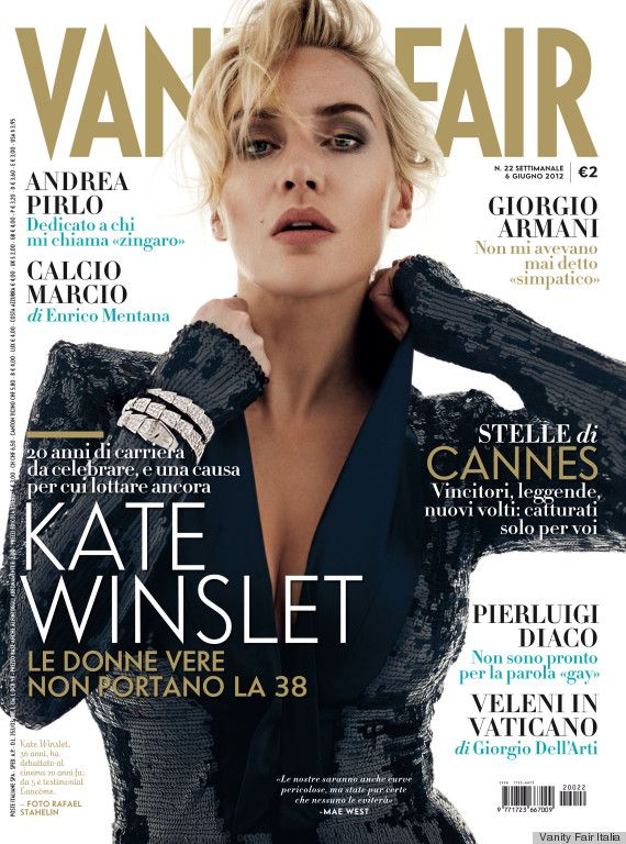 Kate Winslet To Vanity Fair Italia: 'I Am Sincerely Grateful For My Buttocks'
