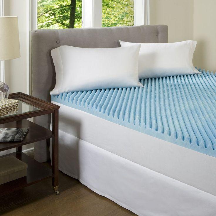 ComforPedic Beautyrest 3-in. Textured Gel Memory Foam Mattress Topper, Blue
