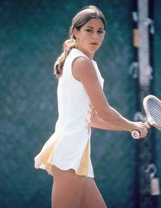 Women's Tennis Style in 1972.