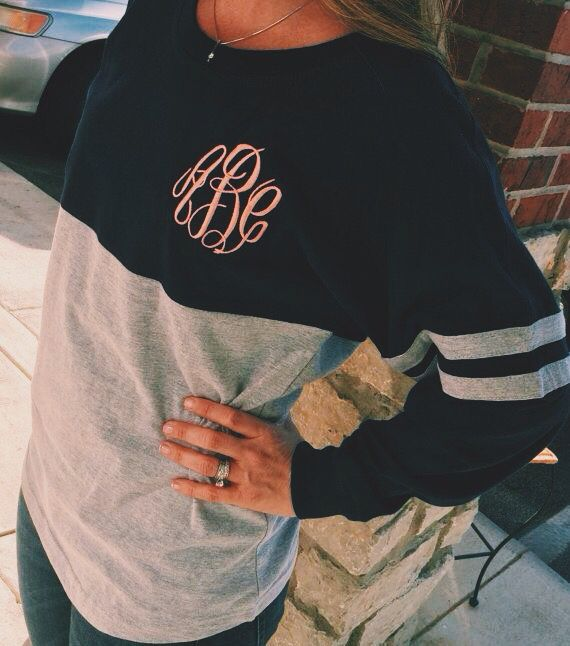 monogramed sweatshirts