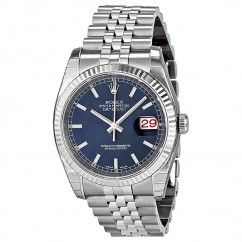 Rolex Oyster Perpetual 36 mm Blue Dial Stainless Steel Jubilee Bracelet Automatic Men's Watch 116234BLSJ