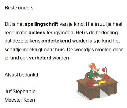 Gietjes Corner: Briefje schrift spelling