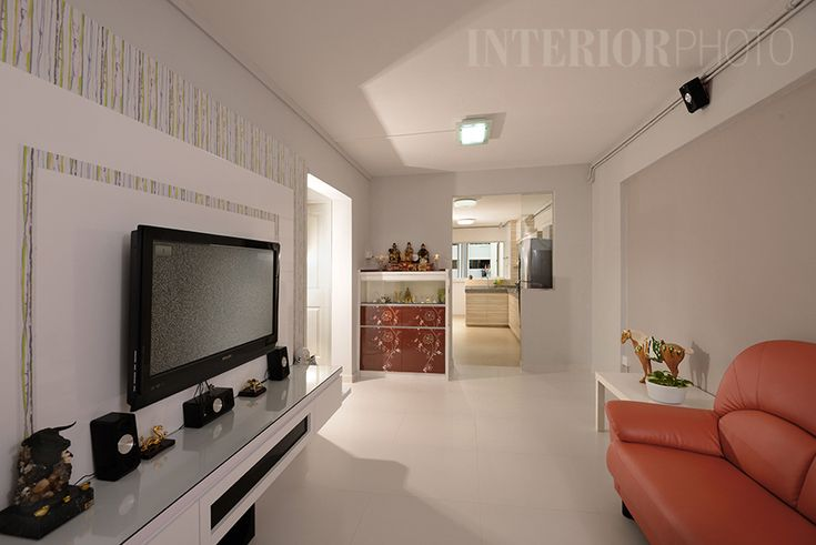 Bedok 3 room flat hdb home interior kitchen living Flat interior design images