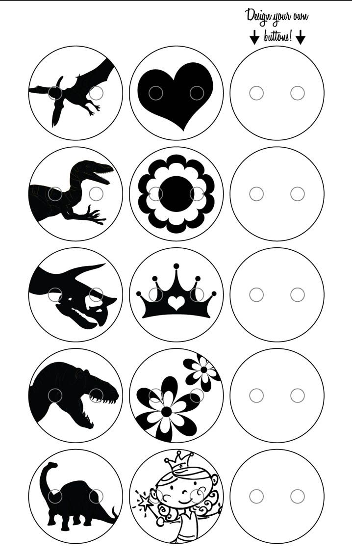shrinky dink templates for buttons for the boys...Dino's!!!