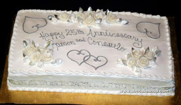 Sheet Cake Designs For Anniversary : 1000+ images about 25th wedding anniversary party on ...