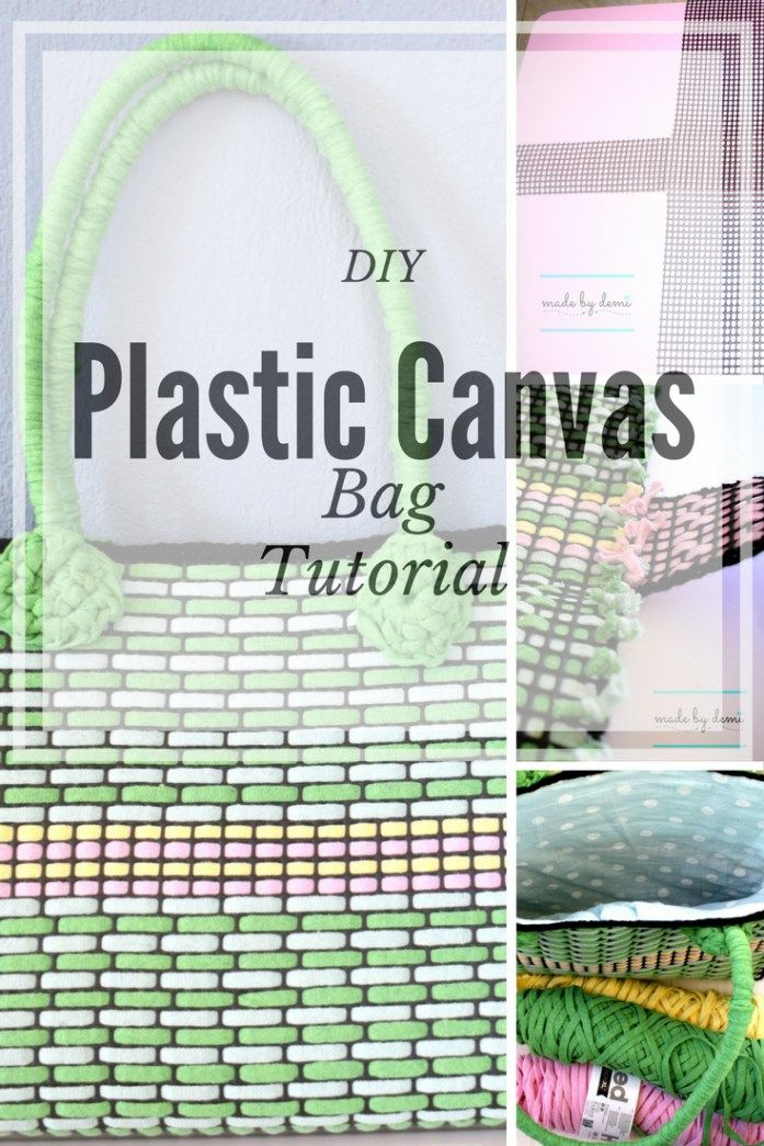 DIY PLASTIC CANVAS BAG TUTORIAL | easy tutorial for beginners | made by demi