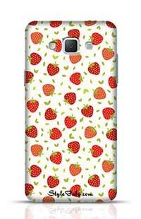 Strawberry With White Background Samsung Galaxy A5 Phone Case