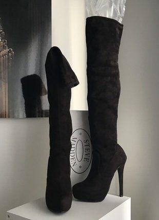 À vendre sur #vintedfrance ! http://www.vinted.fr/chaussures-femmes/bottes-and-bottines/30620317-steve-madden-bottes-cuissardes