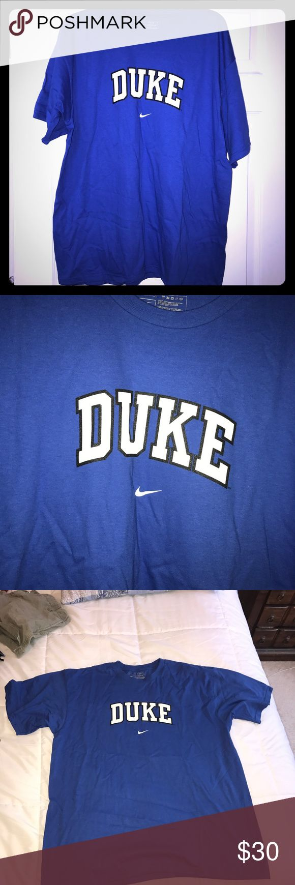 Duke t-shirt- never worn Brand new shirt. Bought for my dad but he never wore it so now I'm selling it to a fan! I already have many Duke shirts! It could fit men or women. Tops Tees - Short Sleeve