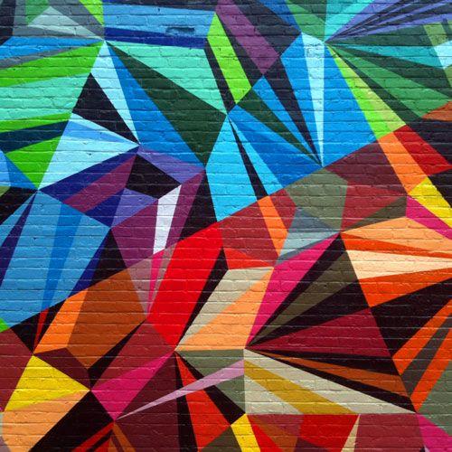 XYZ Axis Mural by Matt W. Moore, Over-the-Rhine, Cincinnati