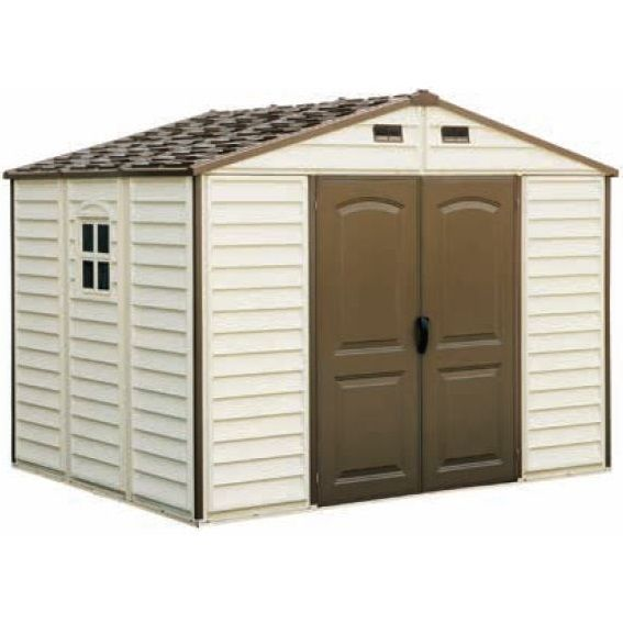 Duramax Outdoor Storage Sheds - 30214 10.5x8 Woodside Vinyl Shed with Foundation