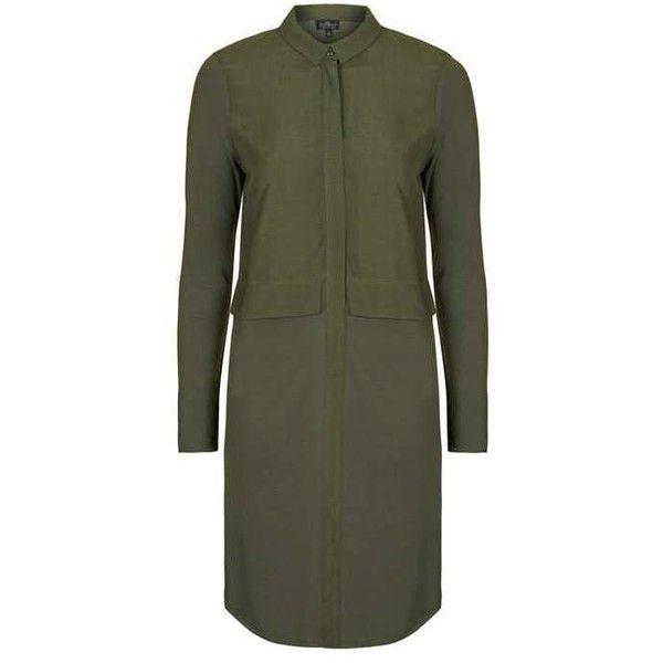 TopShop Tall Hybrid Shirt Dress (490 EGP) ❤ liked on Polyvore featuring dresses, jersey dress, t-shirt dresses, tailored shirt dress, shirt dress and jersey shirt dress