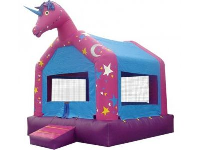 Unicorn Inflatable, Unicorn Bouncer, Unicorn Jumper 800-873-8989    Enter into a dream world of fantasy and imagination. This enchanted Unicorn bouncer will be perfect for those children dreaming of a fantasy world full of fun.