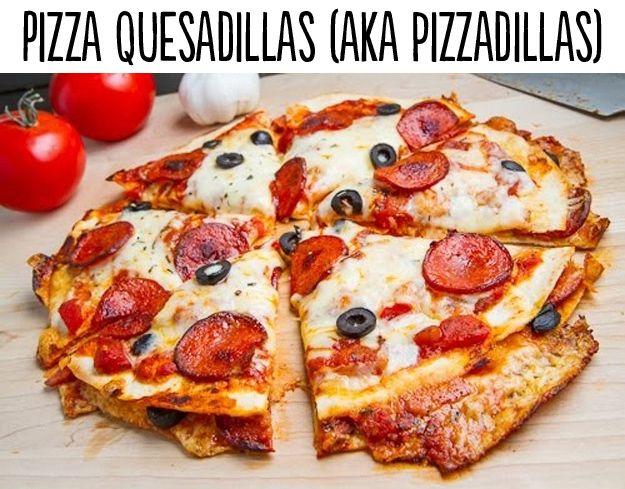 Pizza Quesadillas aka Pizzadillas | Closet Cooking