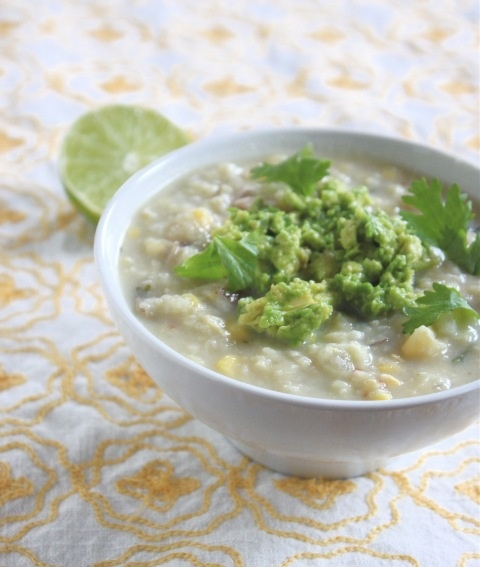 Corn Soup with Avocado Cilantro and Lime | Veggie Delights | Pinterest