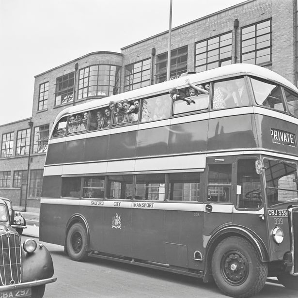 A Salford City Trabsport bus in the 1960s