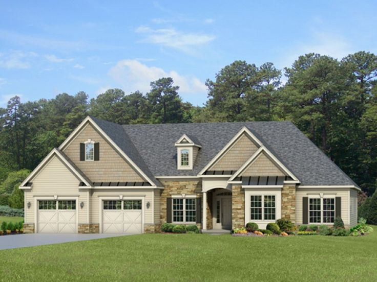 Eplans ranch house plan sprawling ranch with classic for Classic ranch home plans
