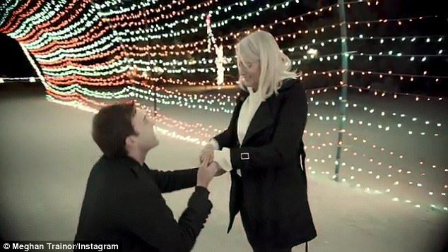 She said yes! Meghan Trainor announced the big news by sharing a sweet video of herself overcome with emotion as her boyfriend, Daryl Sabara, popped the question on her 24th birthday
