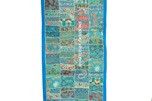 Decorative Indian Antic WallHanging Tapestry Patchwork Embroidery Ethnic Vintage