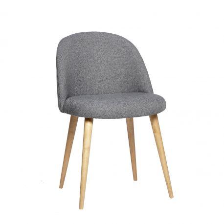 Meuble design scandinave.Chaise grise avec pieds en bois 50x50xh76cm Hubsch 50x50xh76cm. Design decoration maison Frenchrosa