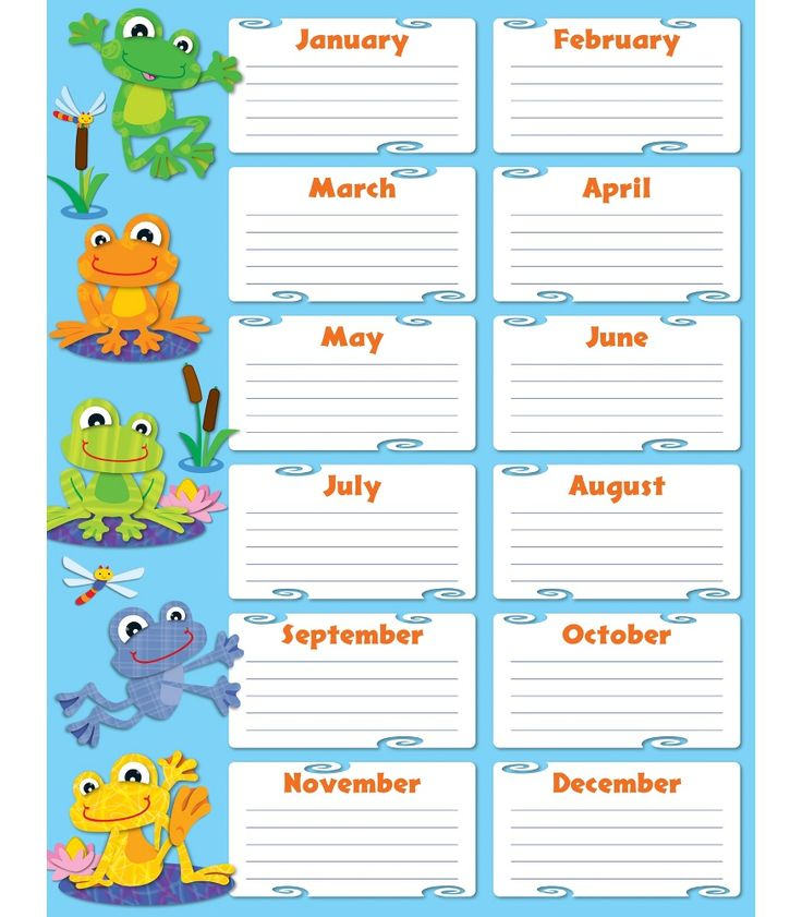 "Never forget a student's birthday with this lively and light-hearted FUNky Frogs Birthday Chartlet. Easy to read and personalize, this is a perfect addition to any classroom! Includes one chart measuring 17"" x 22"". Look for coordinating products in this design to create a lively and FUNky classroom theme!"