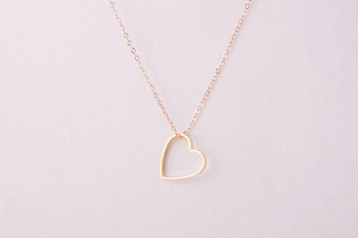 Goldkette ● Herz ● Herzchen ● Herzkette ● Love ● von pretty things auf DaWanda.com