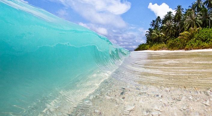 Explore The Beauty Of Caribbean: Shorebreak At Mentawai, Indonesia. Clear Blue Water And