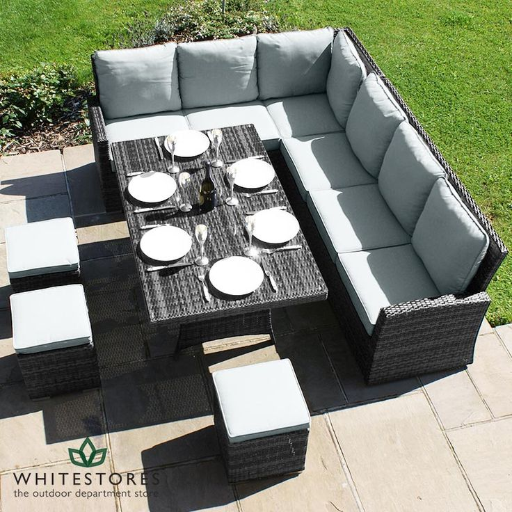 Matara Corner Sofa Dining And Garden Furniture Set: Kingston Rattan Corner Sofa Dining Set