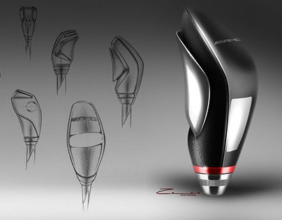 "Mercedes AMG Shift Knob Proposal - by Cesar Zanardo  Check out new work on my @Behance portfolio: ""AMG Shift Knob"" http://be.net/gallery/51414351/AMG-Shift-Knob"