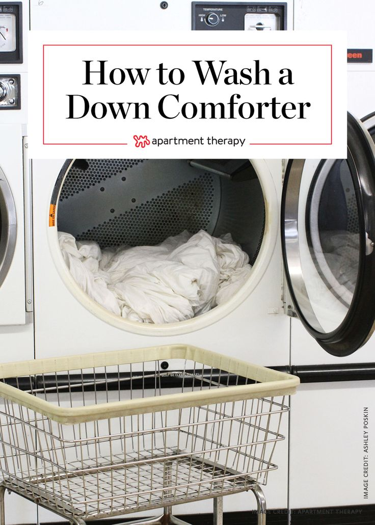 No Need to Dry Clean: How To Wash A Down Comforter | Ever wondered if it's okay to wash your down comforter without taking it to the dry cleaners? You've wondered correctly! You can absolutely wash your down comforter sans the pros. All you need is a mild detergent, and a few hours spent at the laundromat.