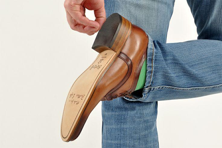 Męskie #buty podwyższające Betelli. Naturalna skóra od podeszwy do samej góry.