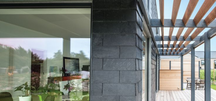Slate clading system | #CUPACLAD #rainscreen #efficiency #sustainable