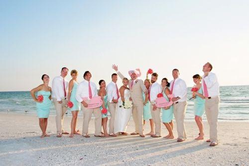 wedding ideas: Wedding Parties, Bridesmaid Dresses, Preppy Wedding, Colors Schemes, Wedding Love, Vineyard Vines Wedding, Beaches Wedding Colors, The Dresses, My Wedding