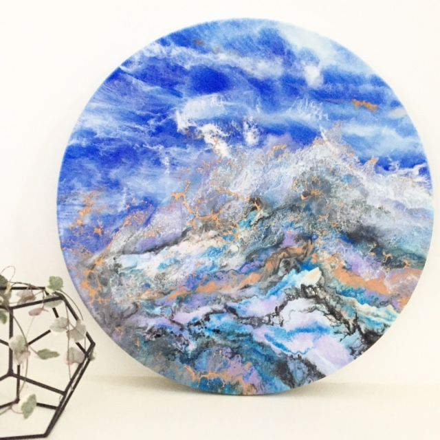 Beautiful Copper Wave   Original Resin ArtThe Block Shop - Channel 9