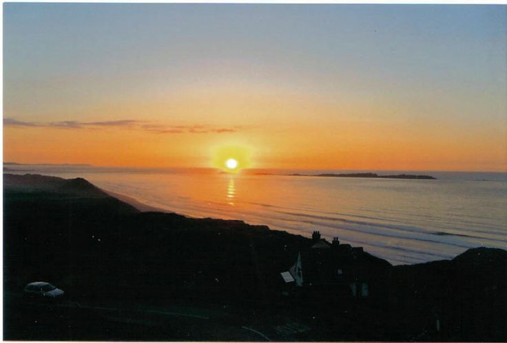 Sunset from Royal Court hotel, Portrush, Northern Ireland