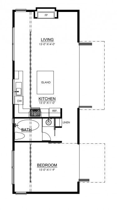 103 best images about in law addition on pinterest one for Cabin addition floor plans