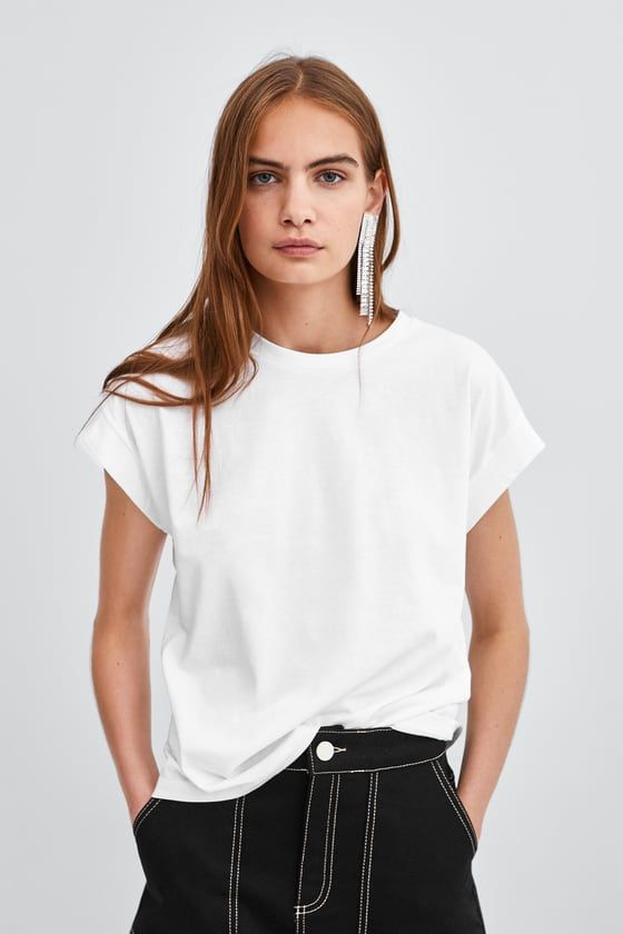 9472206b Basic t-shirt in 2019 | shopping | Shirts, T shirts for women, T shirt