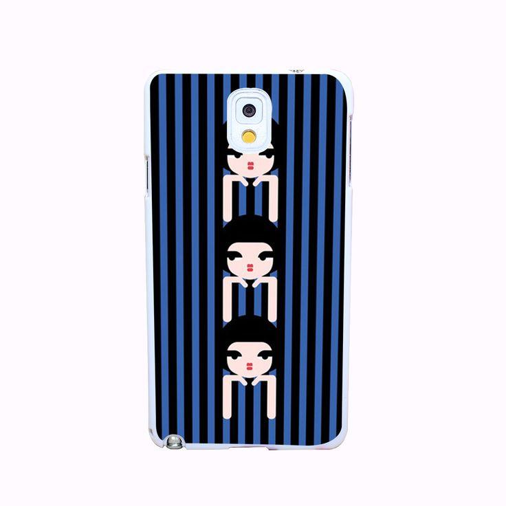 Синие полосы три девушки трудно белый крышка чехол для галактики A3 A5 A7 A8 примечание 2 3 4 5 защитить телефон чехол