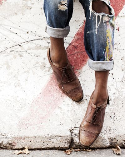 oxfords & jeans