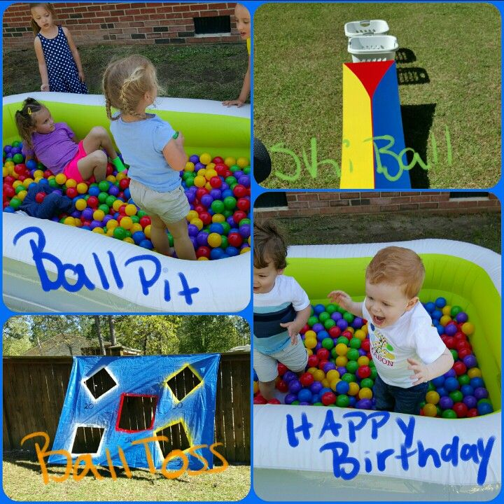 Bouncy Ball 2nd Birthday Party Games