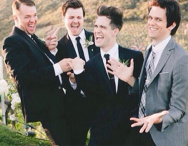 Panic! At The Disco at Brendons wedding, I'm really happy for him.